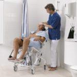 Cadeira de Duche e WC com Rodas